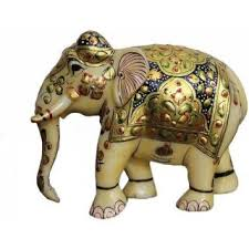 elephant statue athizay marble elephant statue authentic made in india handcrafted