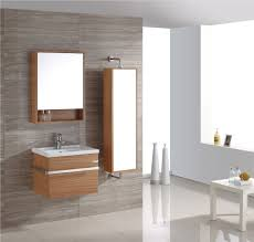 Bathroom Wall Mount Cabinet Tropical Bathroom With Awesome Glossy Tiles Floor Plus Completed