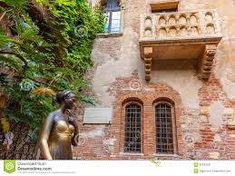 romeo and juliet balcony in verona italy stock photo image