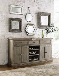 buffet table with wine rack dining room storage sideboard cabinet
