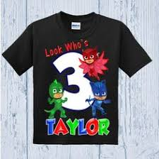 pj masks birthday family raglan shirts personalized birthday