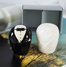 wedding salt and pepper shakers groom salt and pepper shakers unique wedding favors
