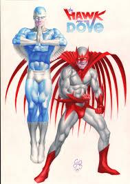 hawk and dove in craig hamilton u0027s commissions comic art gallery room