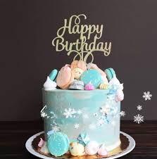 happy birthday cake topper happy birthday gold glitters script font cake topper v2