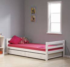 teen girls bedroom furniture ideas using white wooden single bed