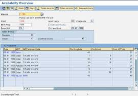 sales order table in sap available to promise atp erp operations scn wiki