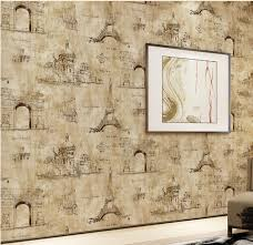 aliexpress com buy vintage eiffel tower paris wallpaper roll the