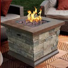 modern propane fire pit table vandue corporation modern home faux stone propane fire pit table