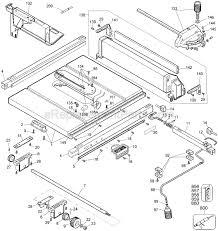 Ridgid Table Saw Parts Dewalt Dw744 Parts List And Diagram Type 1 Ereplacementparts Com