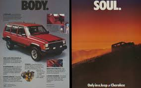 jeep wrangler ads 1985 jeep cherokee ad the only vehicle i ever bought brand new i