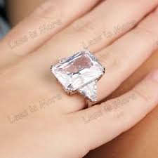glass wedding rings heiress style large cz engagement ring glass silver ring