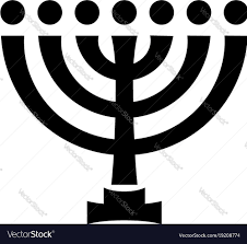 menorah candle holder menorah ancient hebrew sacred seven candleholder vector image