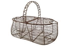 egg baskets antique wire egg basket omero home