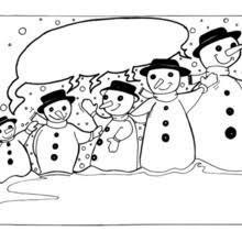 coloring page snowman family christmas snowman coloring pages hellokids com