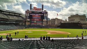 Tiger Awnings by Comerica Park Section 122 Detroit Tigers Rateyourseats Com