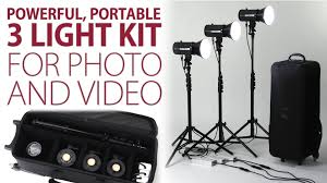 cheap studio lights for video powerful portable 3 light kit for photo and video the led100wb 3
