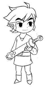 toon link coloring pages pictures to pin on pinterest pinsdaddy