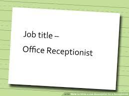 Receptionist Job Description Resume Sample by Receptionist Job Description Receptionist Resume Sample