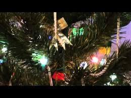 petal reflector lights on tree