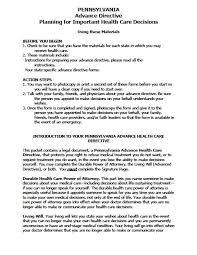 pennsylvania medical power of attorney form living will vawebs