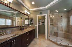 Master Bathroom Cabinet Ideas Cool Master Bathroom Idea Apply Marble Walk In Shower Bench Design