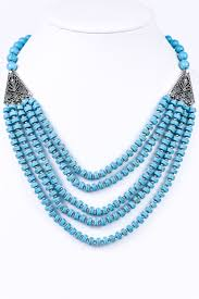 multi strand necklace images Turquoise multi strand necklace nek1607tu tee for the soul jpg