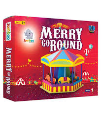 jumboo 3d diy art and craft set for kids merry go round buy