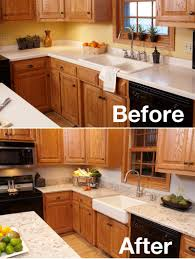 pictures of kitchen designs with oak cabinets if you dont want to paint or stain the cabinets counter
