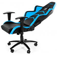 siege de bureau akracing player fauteuil gamer chair noir bleu siège gamer pas cher