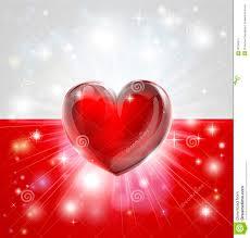 love poland flag heart background stock photo image 28786570