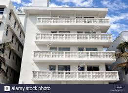 art deco balcony detail of hotel balconies art deco district south beach miami