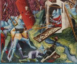 siege canon canon at the siege of troyes manuscript