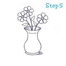 Vases With Flowers How To Draw Flowers In A Vase Roselawnlutheran