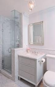 glam bathroom ideas marble detail cabinet vanity in glam bathroom by emily