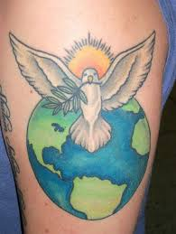 fabulous tattoo on arm for peace tattoo design lovers
