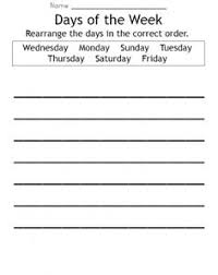 days of the week activities kiddo shelter kids worksheets