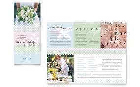 wedding event coordinator wedding event planning brochure template design