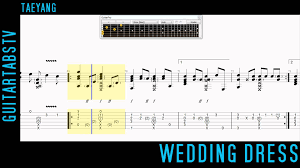 wedding dress chords piano wedding dress by taeyang fingerstyle guitar tabs sungha jung