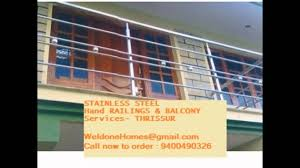 glass hand rail stainless steel thrissur kerala youtube