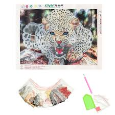 30x40cm 5d diamond painting leopard embroidery cross stitch home