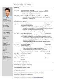 How To Write A Resume For Job Application Charming Decoration Resume Template Format Attractive Inspiration