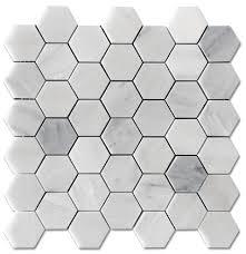 9 45 free ship carrara hexagon honed 2 mosaic floor and wall tile