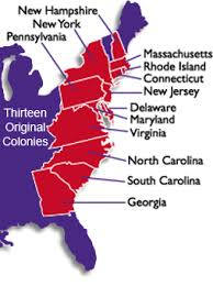 the thirteen colonies map thirteen original colonies thinglink