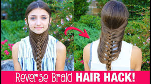 hair hack diy reverse braid in under 2 minutes life hacks