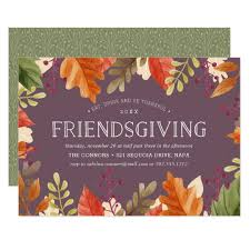 friendsgiving feast thanksgiving dinner invitation zazzle