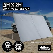 4wd Shade Awning 2m 3m Car Side Awning Extension Roof Rack Top Tents Side Shades