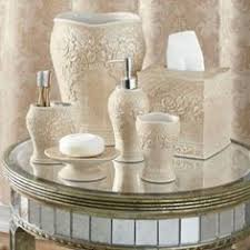 Damask Bathroom Accessories Overstock Black White Damask Bath Accessory 4 Piece Set The