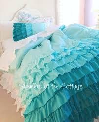 Ruffle Bedding Set Ruffled White Quilt Set Free Melange Home Ruffle Cotton