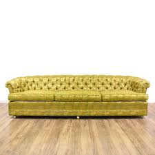 Square Chesterfield Sofa by This Long Chesterfield Sofa Is Upholstered In A Durable Silk Like