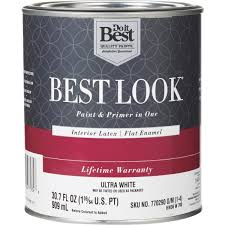do it best best look latex paint u0026 primer in one flat enamel